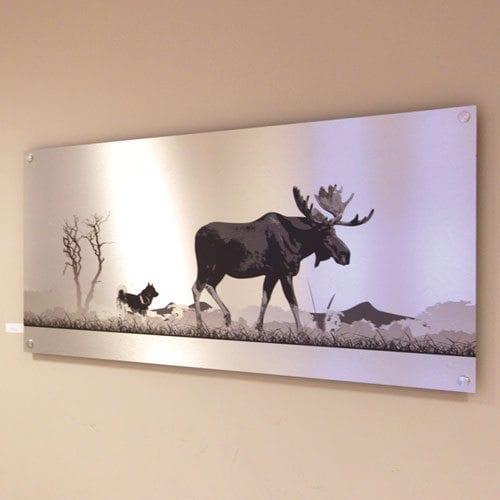 print på plate av børset aluminium
