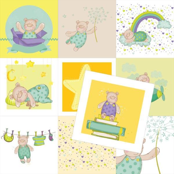 Kort til barn og bursdag fra Presis